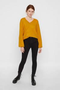 PIECES high waist skinny jeans zwart, Zwart