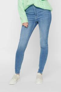 PIECES high waist skinny jeans PCNORA light blue denim, Blauw