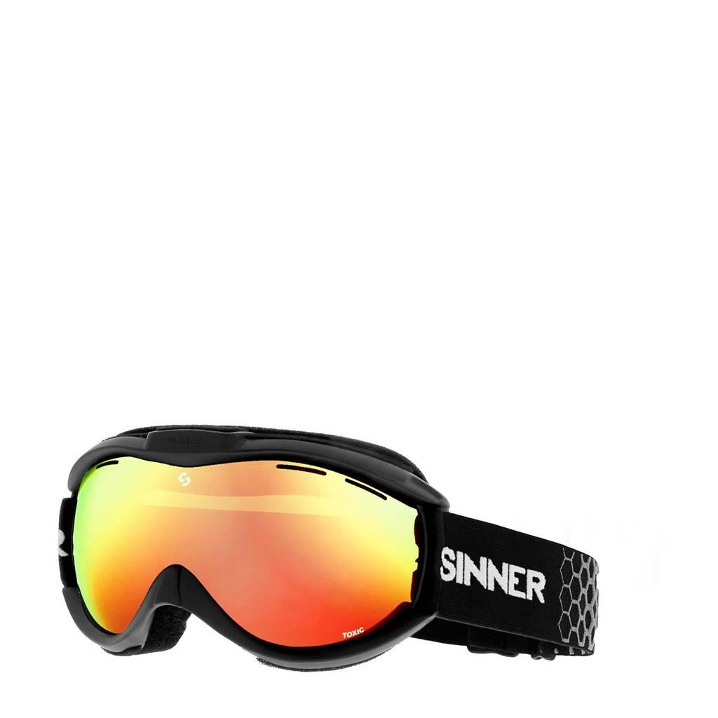 Sinner skibril Toxic zwart, Zwart