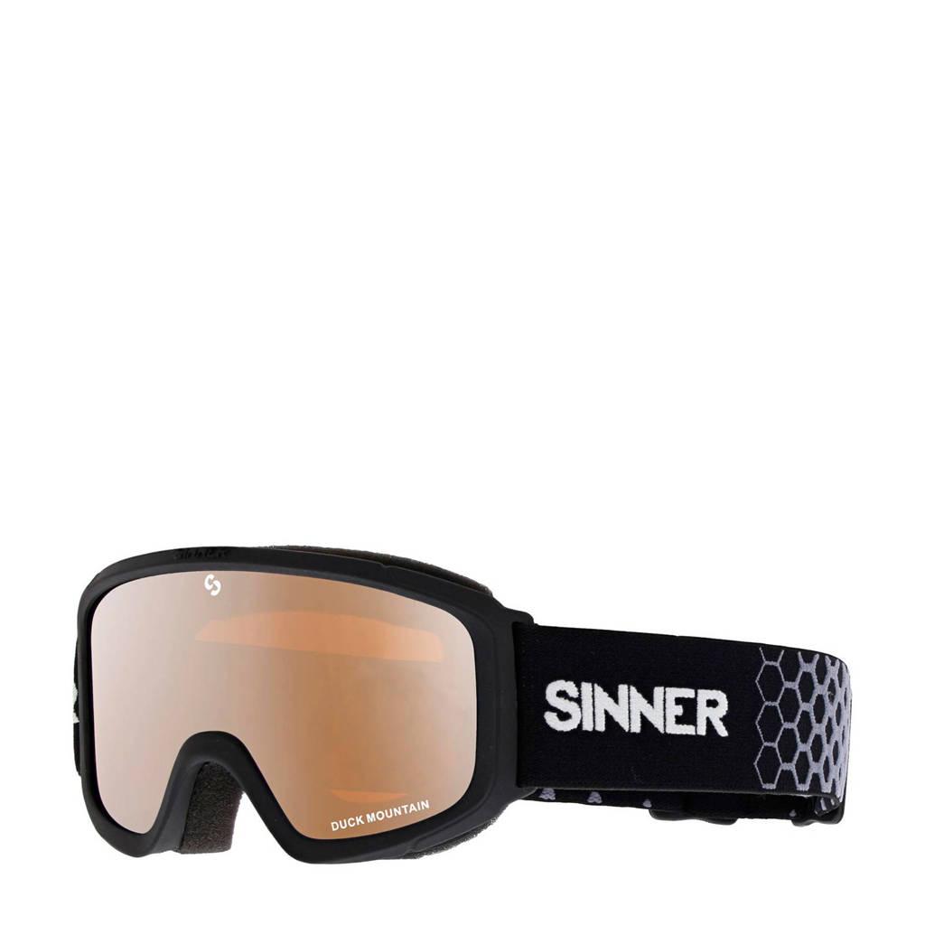 Sinner Meisjes skibril Duck Mountain zwart, Zwart
