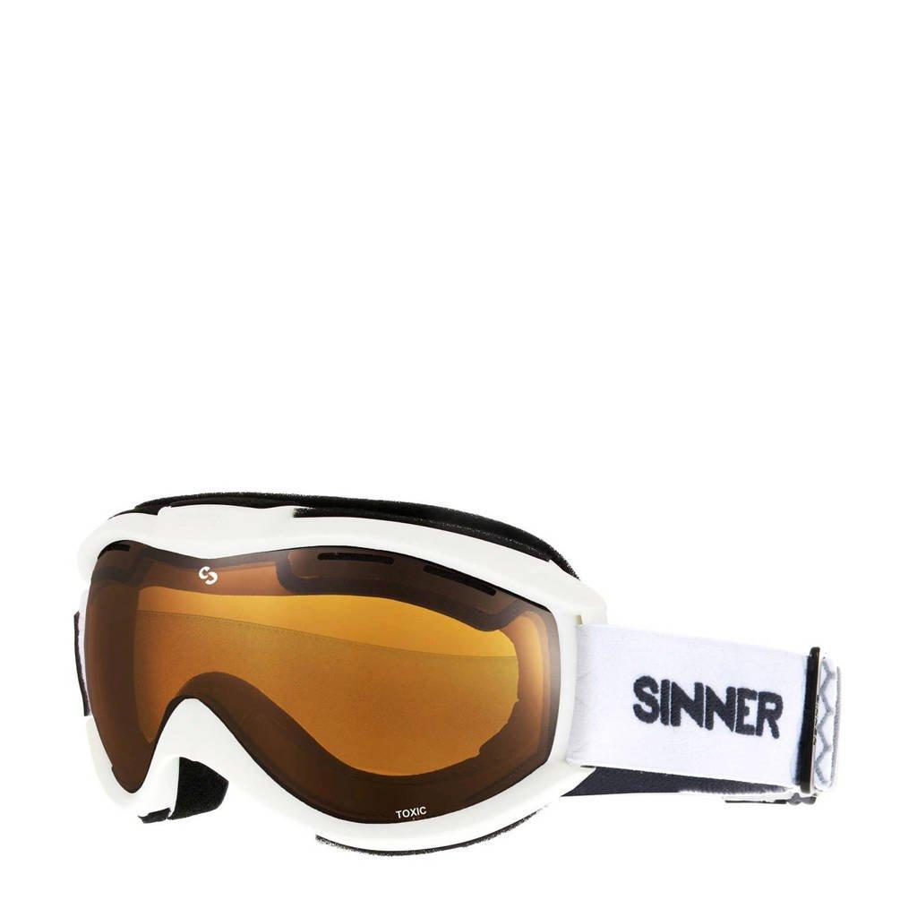 Sinner skibril Toxic wit, Wit