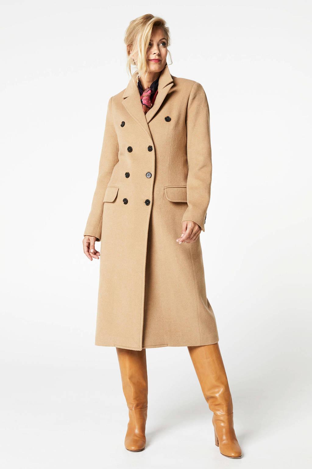 PROMISS coat met wol camel, Camel