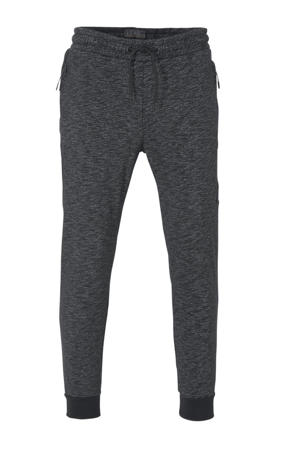 regular fit joggingbroek antraciet/zwart