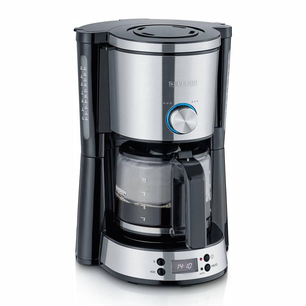 Severin KA 4826 koffiezetapparaat, Zwart, zilver