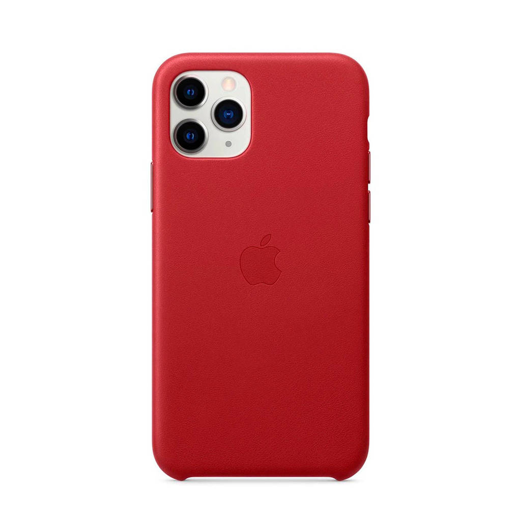 Apple iPhone 11 Pro leren backcover, Rood