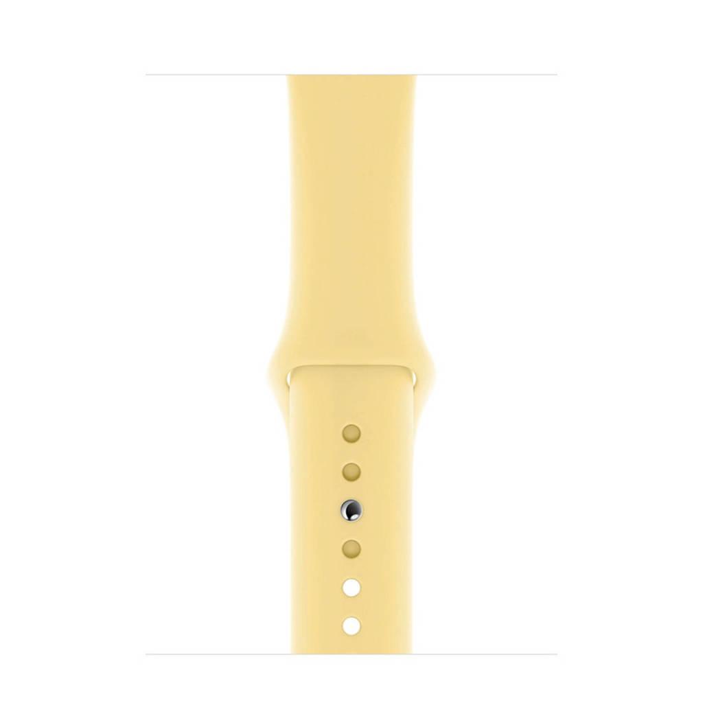 Apple Watch siliconen sport horlogeband 44mm, Geel