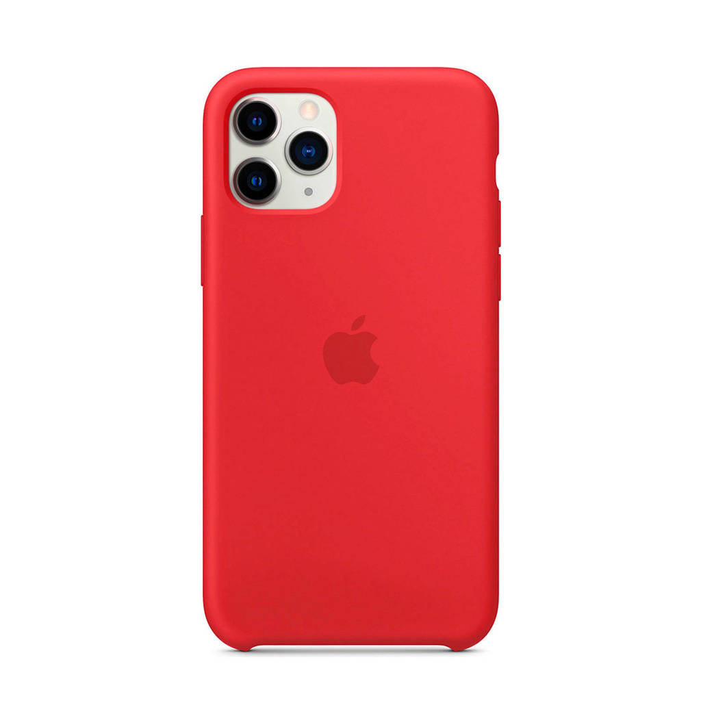 Apple iPhone 11 Pro siliconen backcover, Rood