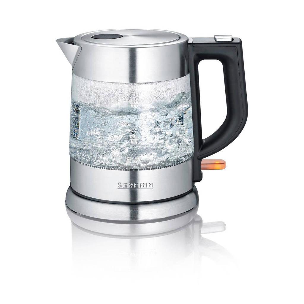 Severin WK3468 waterkoker, glas/rvs