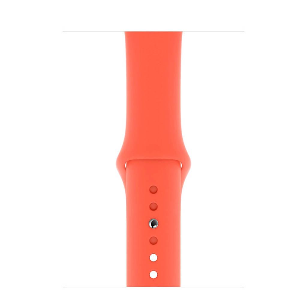 Apple Watch siliconen sport horlogeband 44mm, Oranje