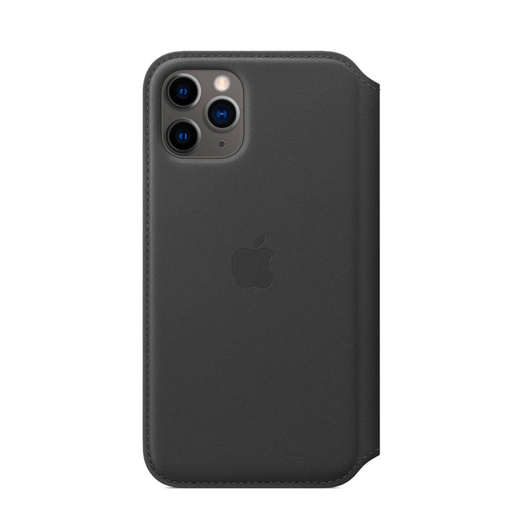 Apple iPhone 11 Pro leren flipcover, Zwart
