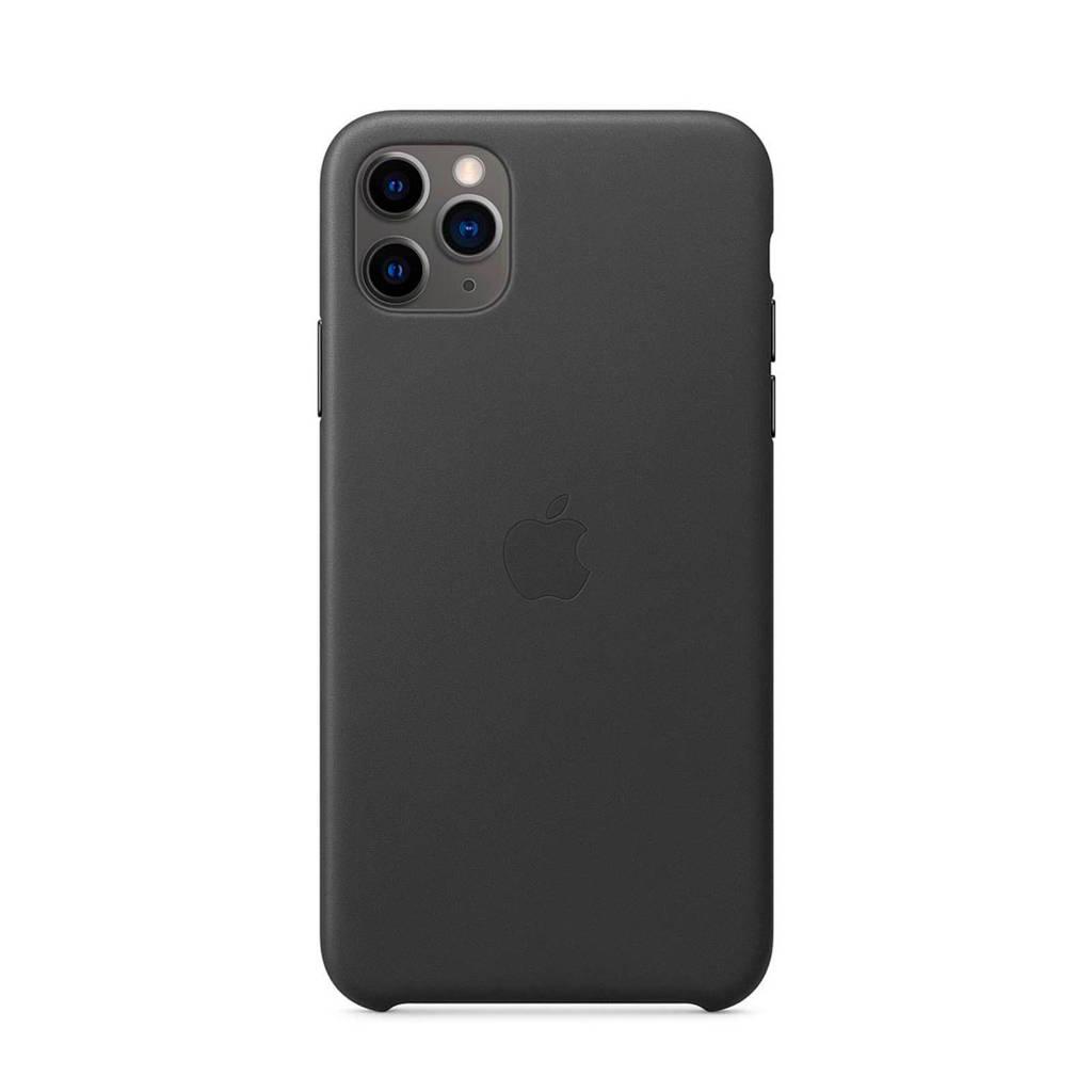 Apple iPhone 11 Pro Max leren backcover, Zwart