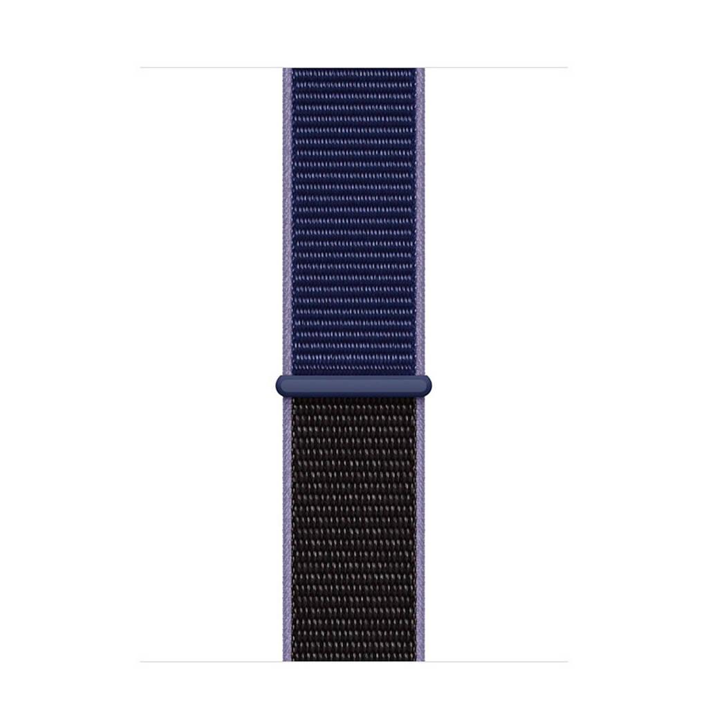 Apple Watch geweven horlogebandje 40mm, Zwart, Blauw