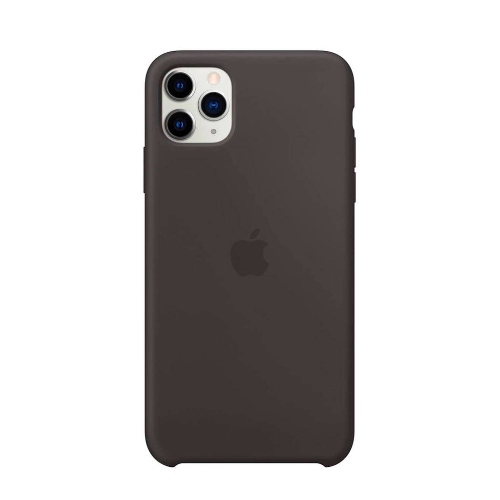 Apple iPhone 11 Pro Max siliconen backcover, Zwart