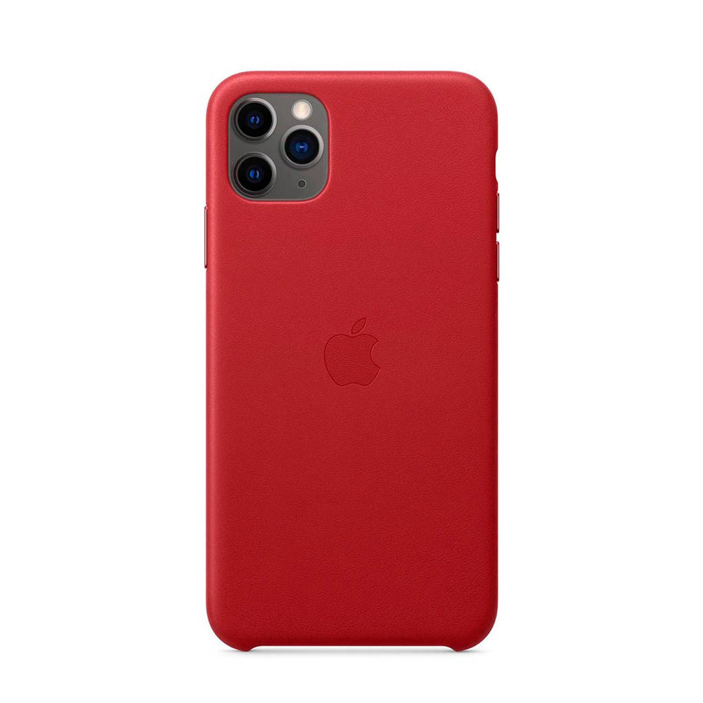 Apple iPhone 11 Pro Max leren backcover, Rood