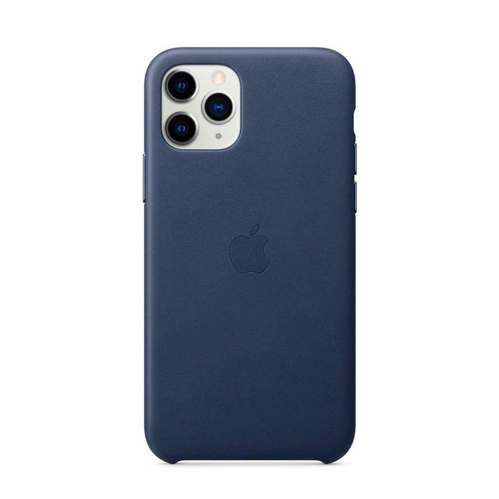Apple iPhone 11 Pro leren backcover, Blauw