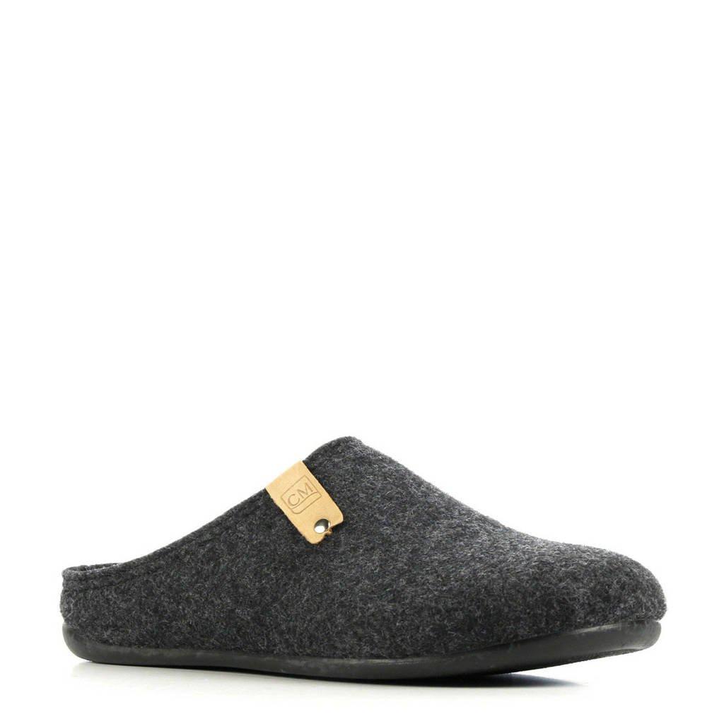 CM Comfort pantoffels antraciet, Antraciet