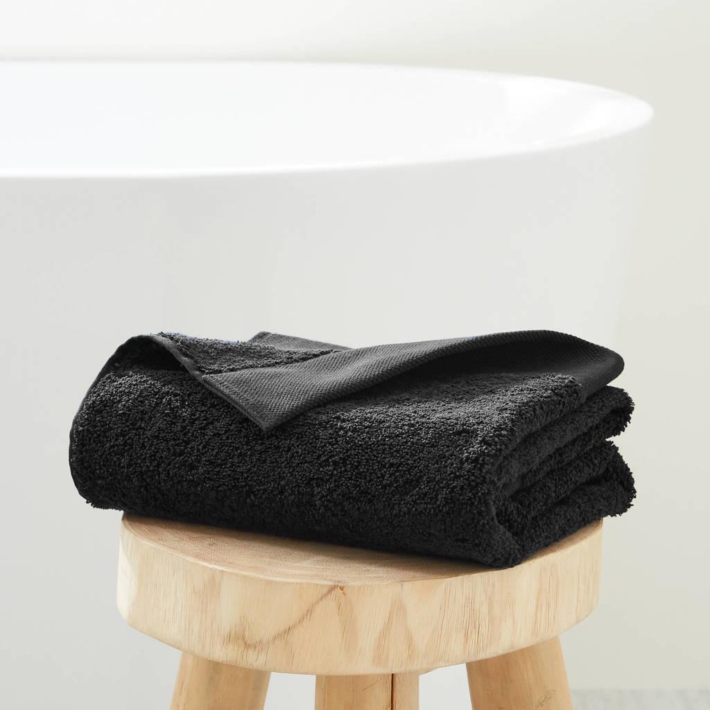 wehkamp home handdoek hotelkwaliteit (50 x 100 cm) Zwart