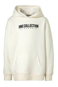 NIK&NIK hoodie Lancy One met tekst offwhite, Offwhite