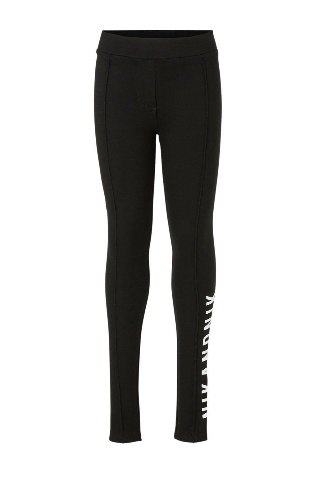 NIK&NIK legging met tekst zwart, Zwart