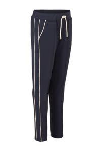 NIK&NIK broek Laura met zijstreep donkerblauw, Donkerblauw