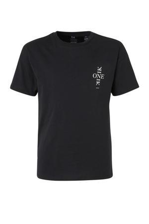 T-shirt Lexy One met printopdruk zwart