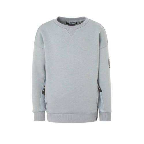 NIK&NIK sweater Keagan met patches grijsblauw