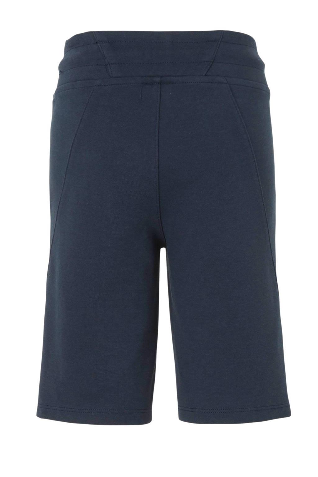 NIK&NIK sweatshort Lex met printopdruk donkerblauw, Donkerblauw