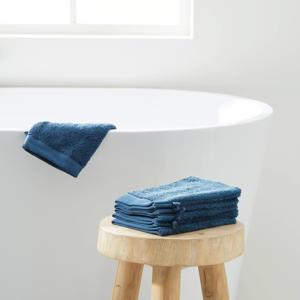 washand hotelkwaliteit (set van 6) (23.5x15.5 cm) Donkerblauw