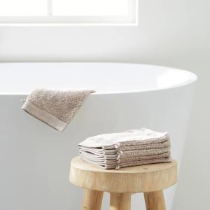 washand hotelkwaliteit (set van 6) (21x15 cm) Taupe