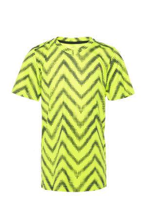 voetbal T-shirt geel/zwart