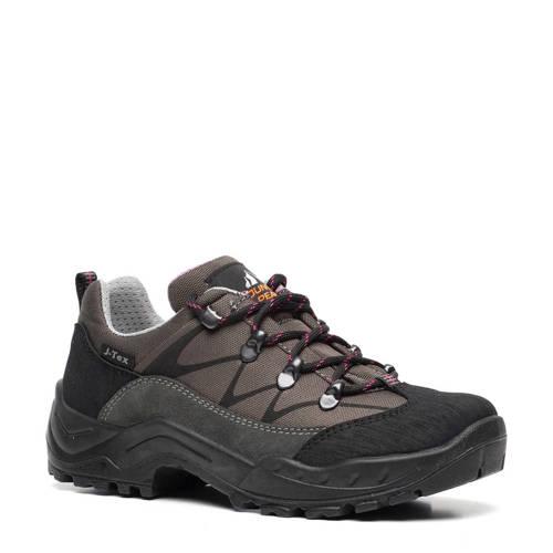 Scapino Mountain Peak leren wandelschoenen grijs