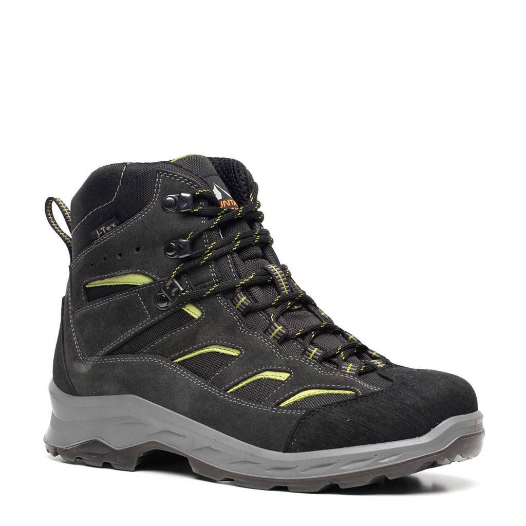 Mountain Peak   leren wandelschoenen donkergroen/geel, Donkergroen/geel