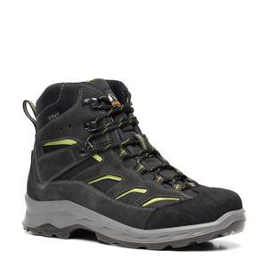 Mountain Peak   leren wandelschoenen donkergroen/geel