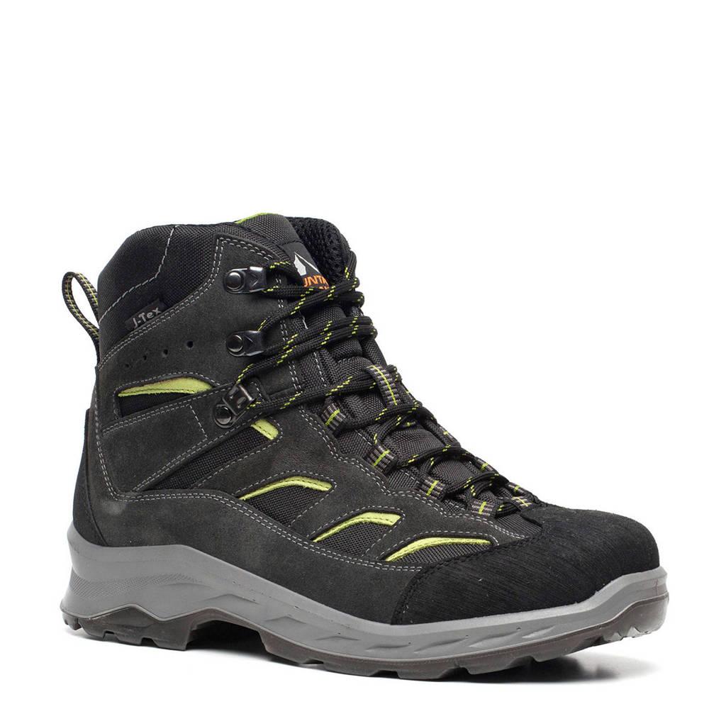 Scapino Mountain Peak   leren wandelschoenen donkergroen/geel, Donkergroen/geel