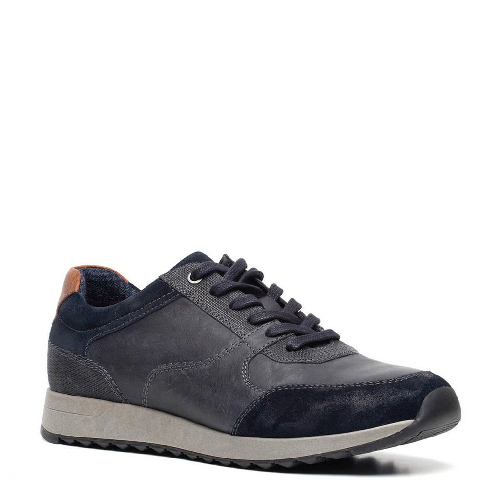 Scapino Van Beers   leren sneakers blauw, Blauw