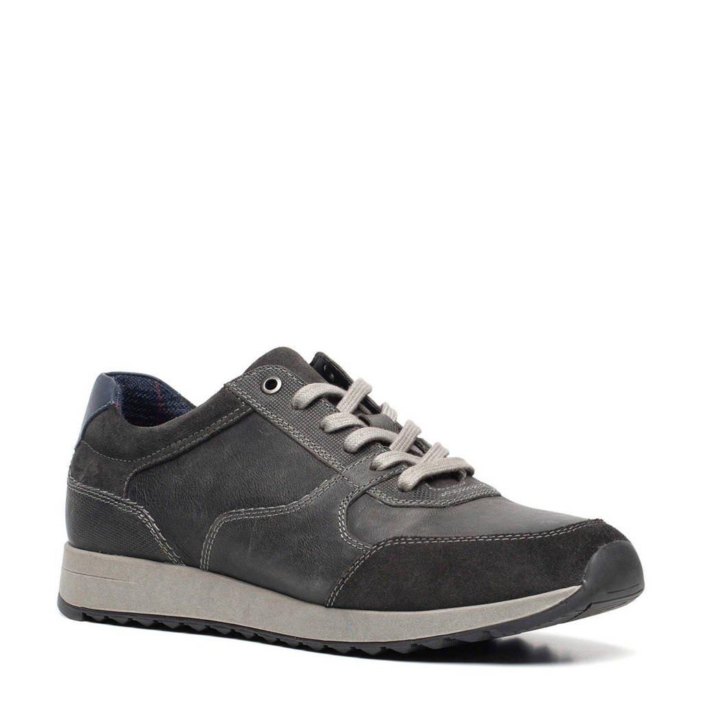Scapino Van Beers   leren sneakers grijs, Grijs