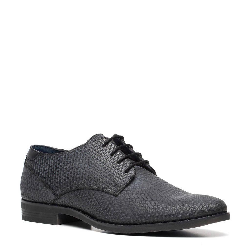 Scapino Van Beers   veterschoenen zwart, Zwart