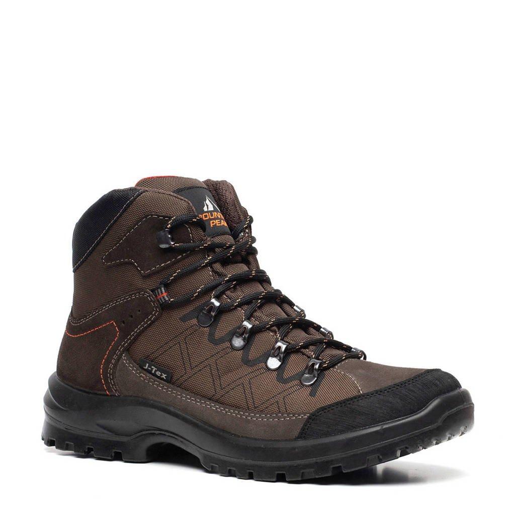 Mountain Peak   leren wandelschoenen bruin, Bruin/groen