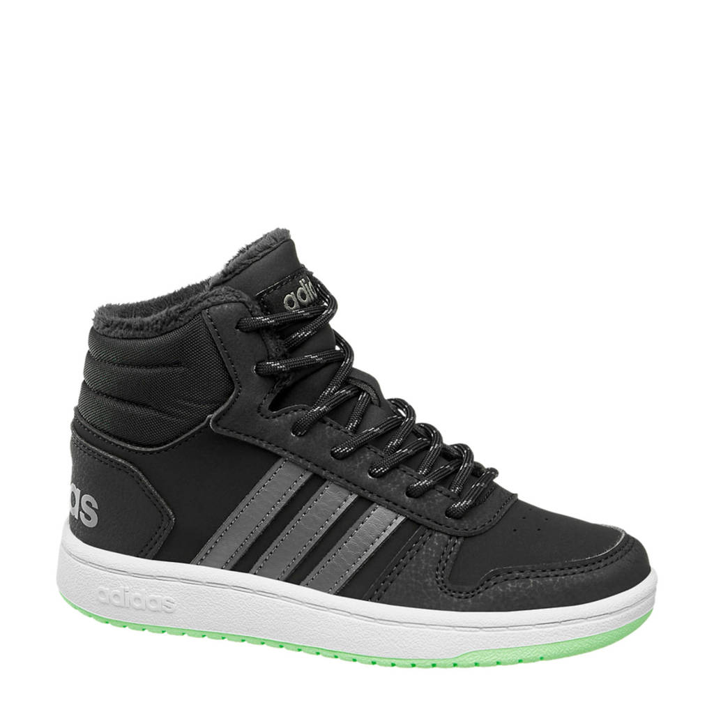 adidas  Hoops Mid 2.0 sneakers zwart/grijs, Zwart/grijs