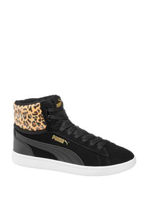 Vikky Mid  hoge sneakers zwart/panterprint