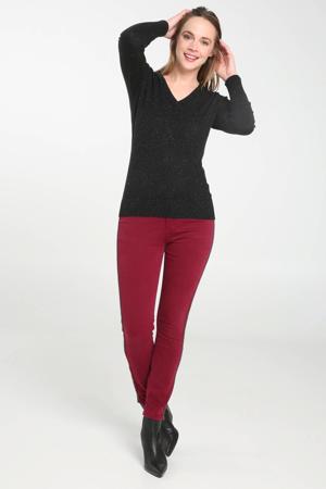 trui met v-hals zwart