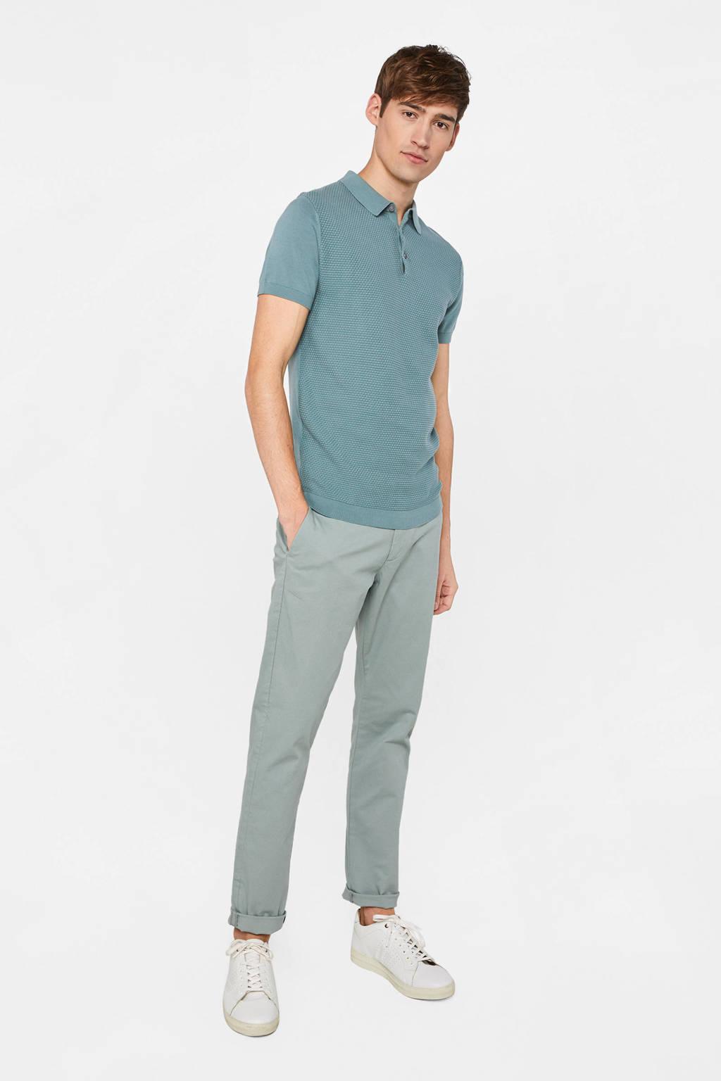 WE Fashion slim fit polo grey green, Grey Green