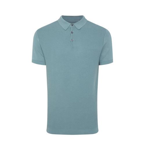 WE Fashion slim fit polo grey green