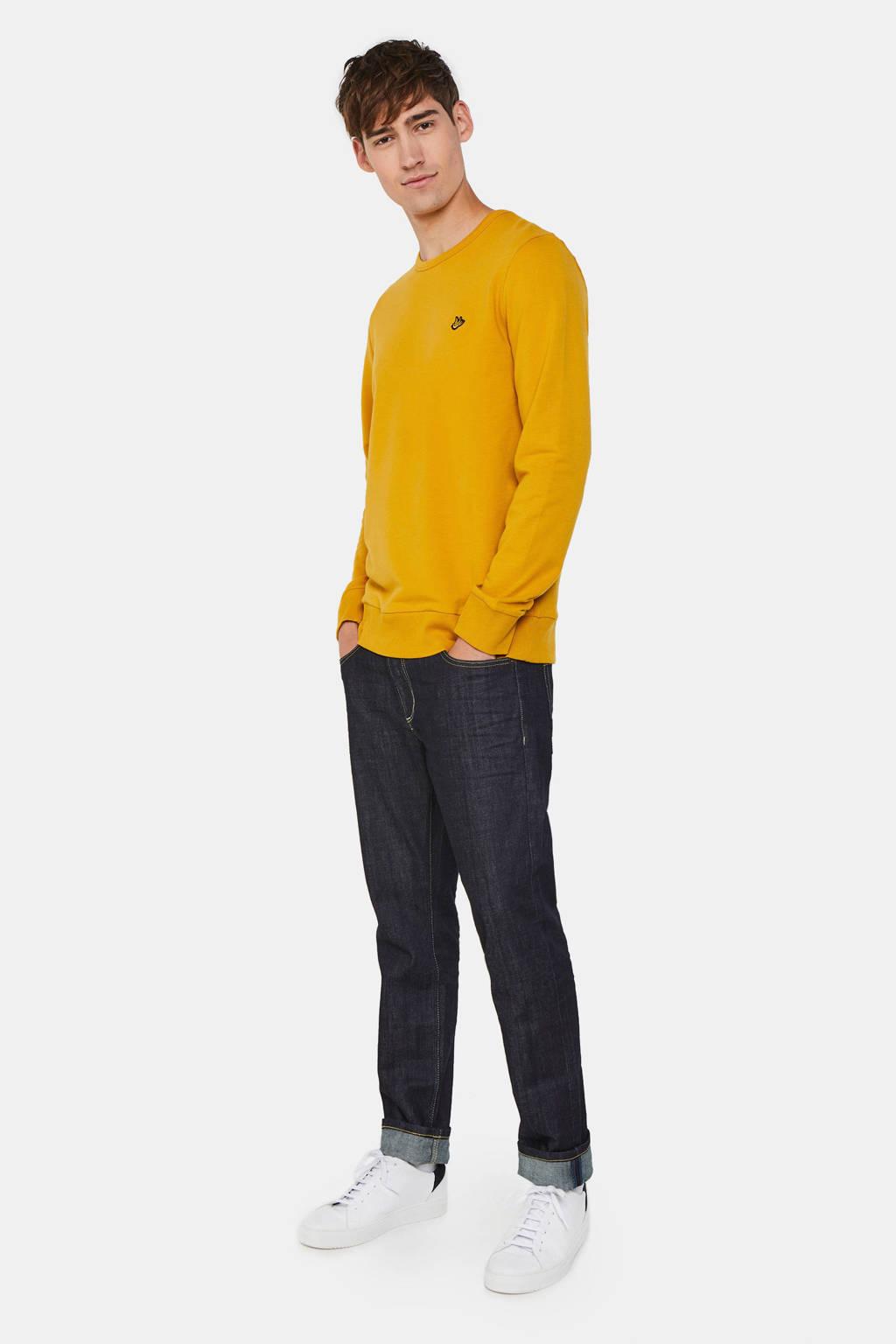 WE Fashion sweater met logo geel, Geel