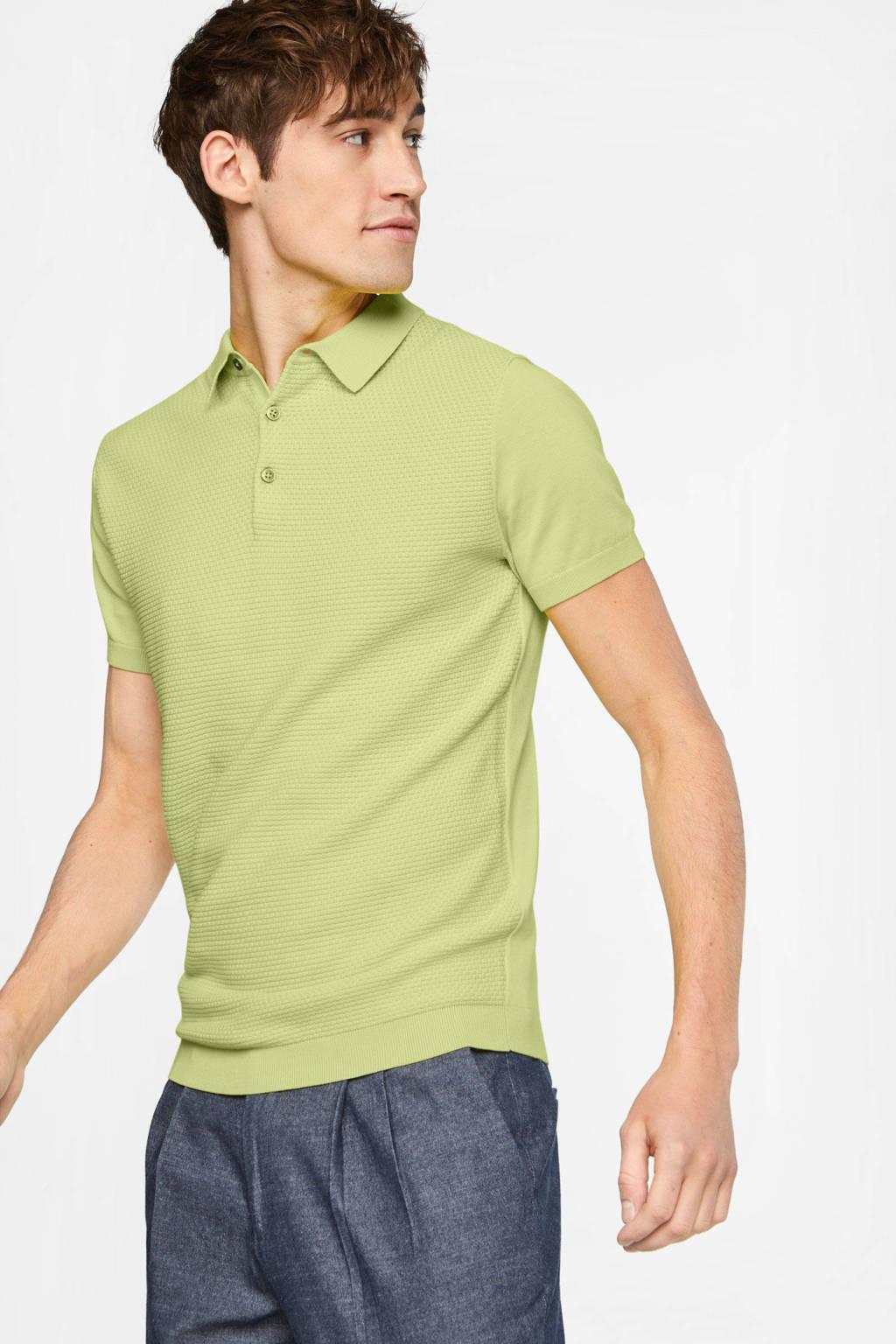 WE Fashion slim fit polo limoncello, Limoncello