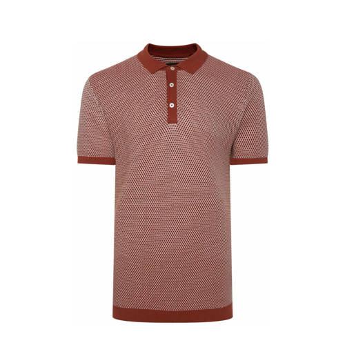 WE Fashion slim fit polo rood