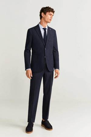 slim fit colbert middenblauw