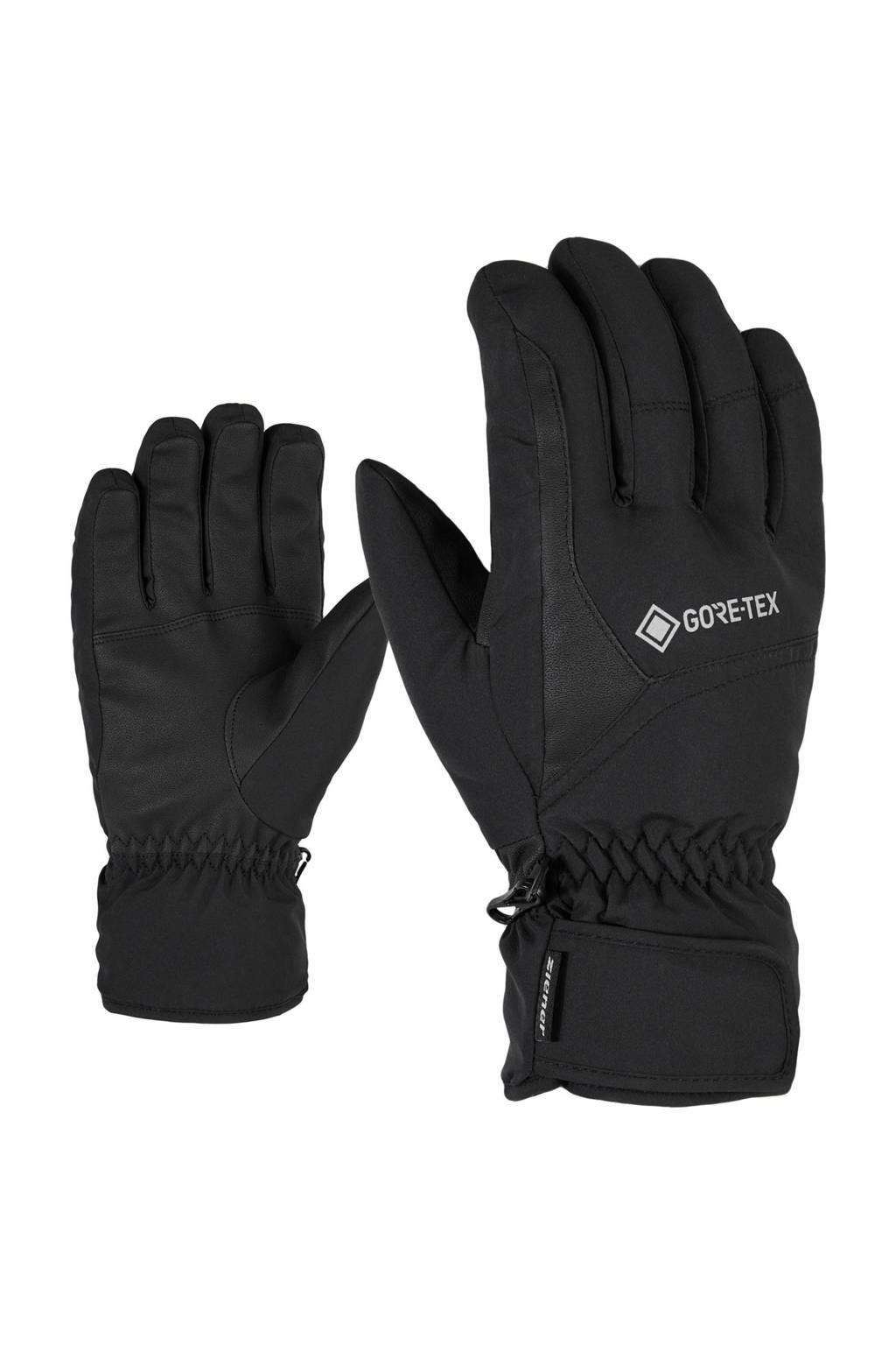 Ziener skihandschoen Garwen zwart, Zwart