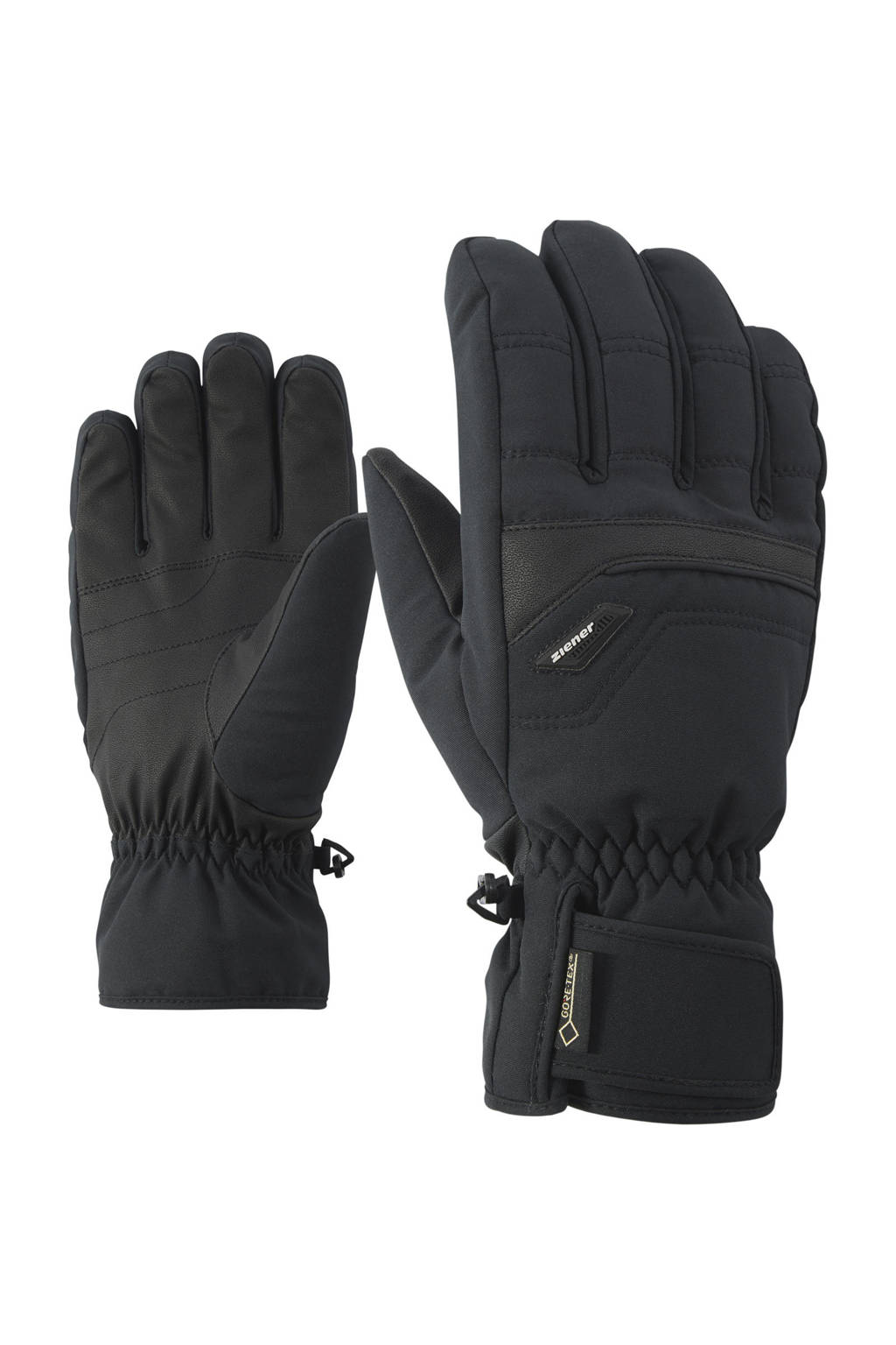 Ziener skihandschoen Glyn zwart, Zwart