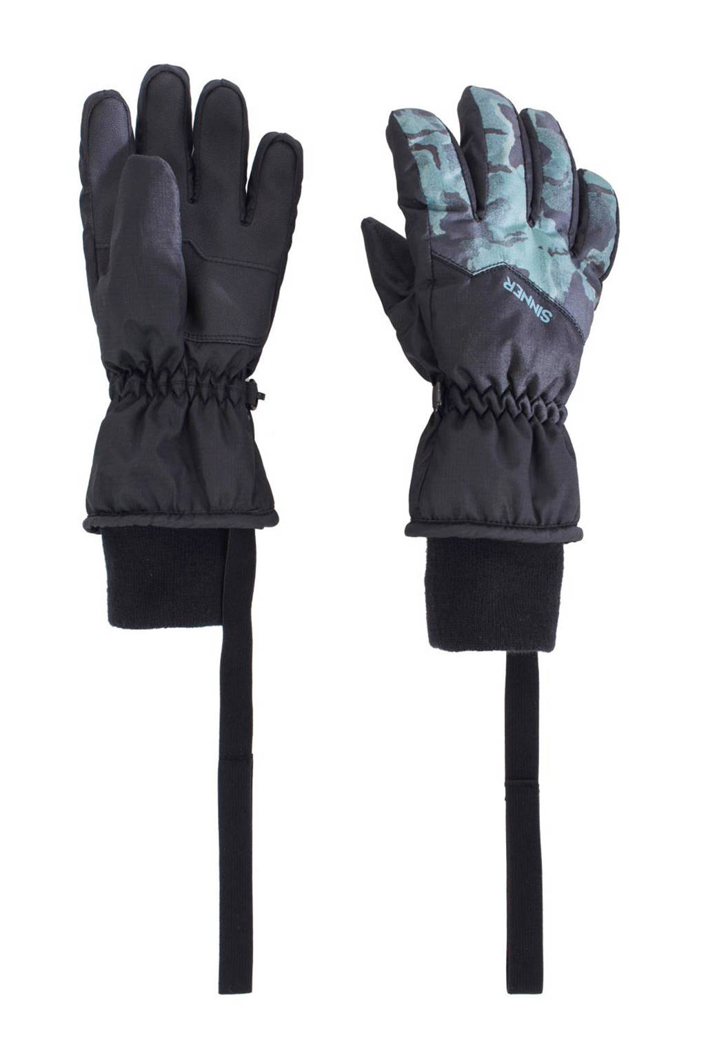 Sinner skihandschoenen Phoebe Jr. zwart/groen, Zwart